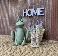 Mother's Day gift of Frog Prince and Morel Mushroom garden ornaments